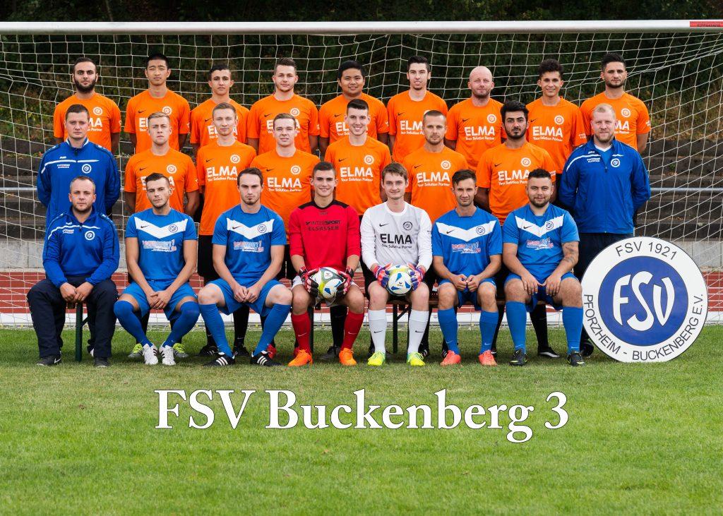 Bild der dritten Mannschaft des FSV Buckenberg